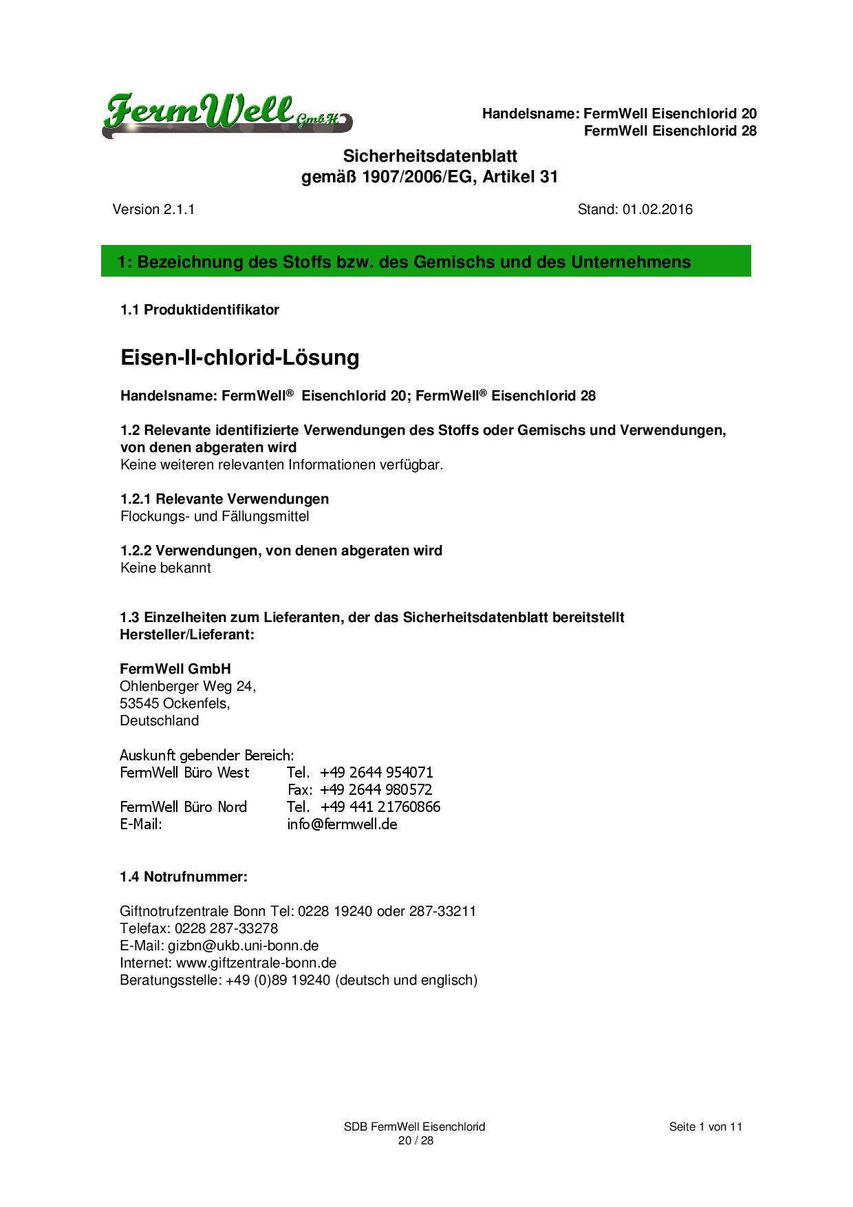FWG_Eisenchlorid_20-28 Sicherheitsdb_161